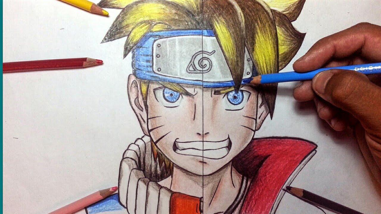 Como Dibujar A Boruto Y Naruto Juntos (fanART)