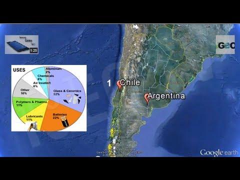 Reservas de Litio en el Mundo / Lithium Reserves in The World [ IGEO.TV ]