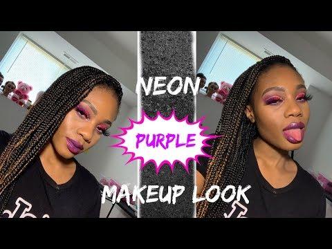 Neon Purple Makeup Look