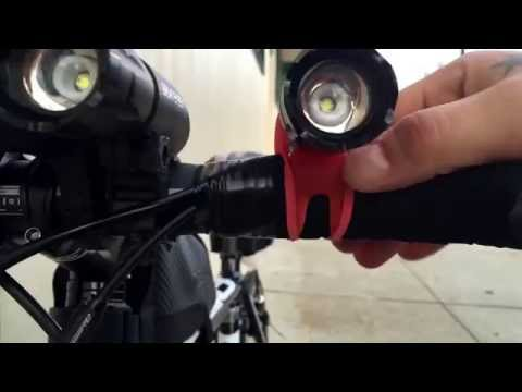 How To Mount A Flashlight To Your Handlebars