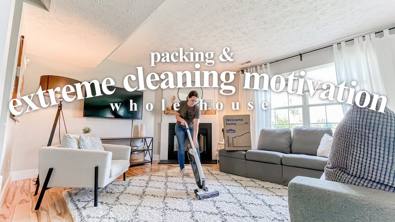 NEW CLEAN WITH ME 2021 + PACKING | WHOLE HOUSE Cleaning Motivation
