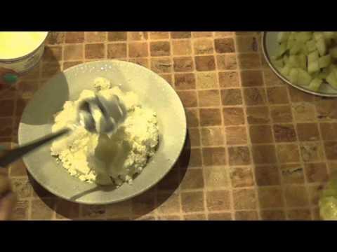 Творожные запеканки с грушей-(Cottage Cheese Casserole With Pears