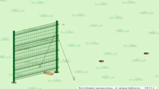видео Пластиковая заборная решетка стандарт