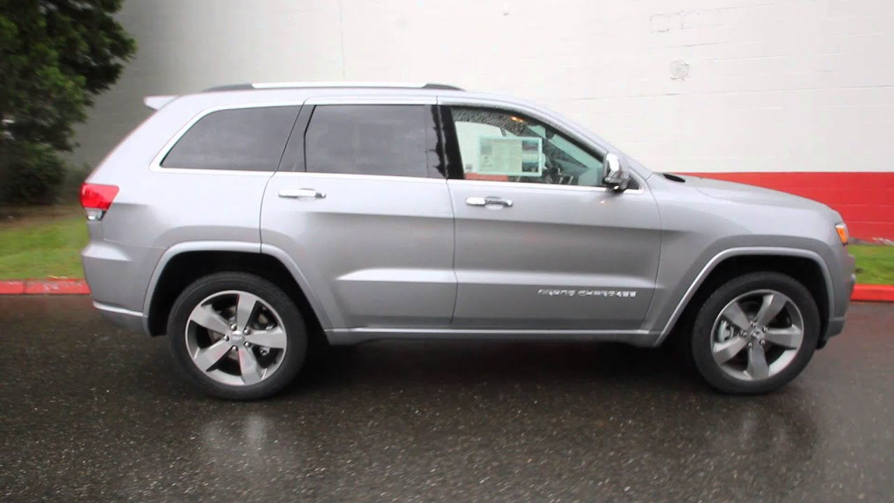 Jeep Grand Cherokee Overland >> 2014 Jeep Grand Cherokee Overland | Billet Silver | EC388233 | Seattle | Bellevue - YouTube