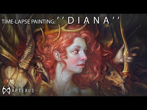 Speed painting: ''Diana''