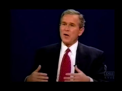 George W. Bush Against Telling Other Nations What To Do - 2000 Presidential Debate