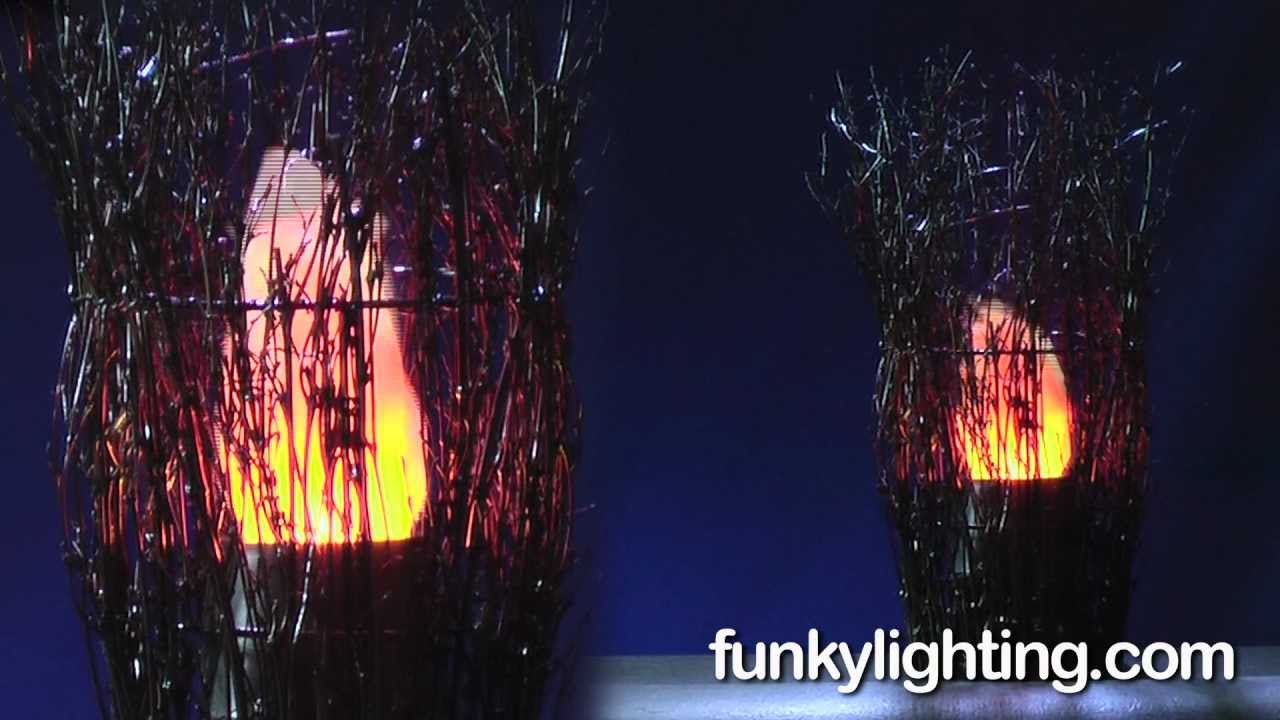 Silk Flame Fire Light Twig Basket - YouTube for Artificial Flame Light  545xkb
