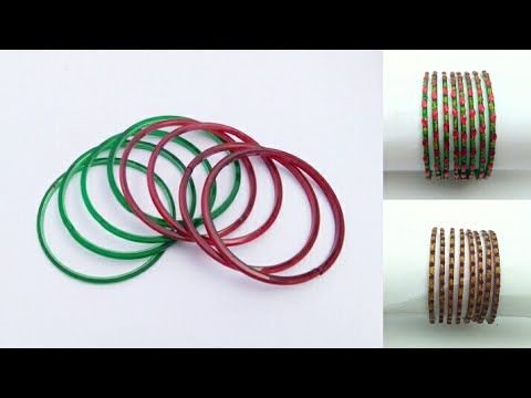 Turn your old bangles into designer bangles reuse old for Best out of waste ideas from bangles