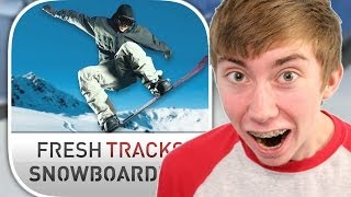 FRESH TRACKS SNOWBOARDING (iPad Gameplay Video)