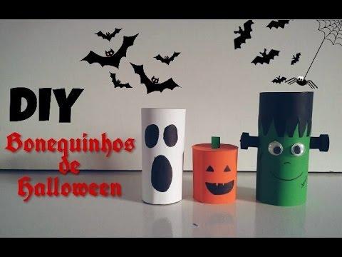 Diy Halloween Bonecos De Rolo De Papel Youtube