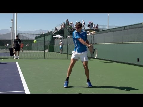 Tommy Robredo Backhand In Super Slow Motion - Indian Wells 2013 - BNP Paribas Open.jpg