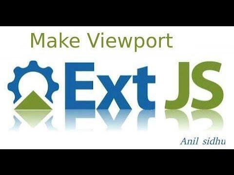 Sencha Ext Js Tutorial #5 How To Make Viewport