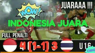 Indonesia u16 vs Thailand u16 5-4 FULL PENALTY