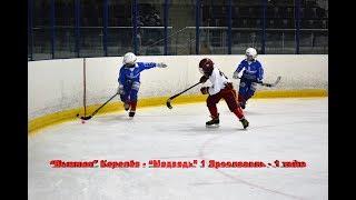 """Хоккей с мячом дети, """"Вымпел"""" Королёв - """"Медведь"""" 1 Ярославль 1 тайм"""