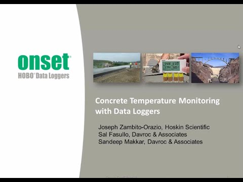 Monitoring Concrete Curing Temperatures With Data Loggers