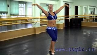 Он-лайн уроки танца живота: Baladi (часть 2 лицом)