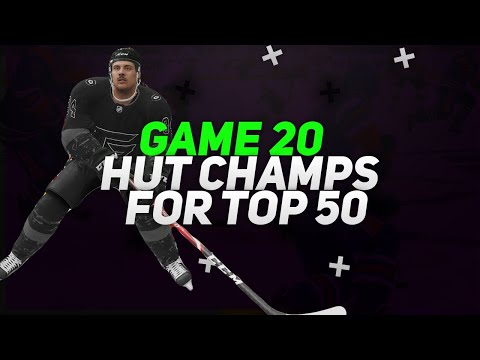 NHL 21 HUT CRAZY HUT CHAMPS GAME FOR TOP 50!