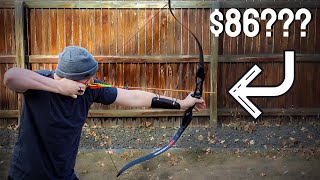 $86 Recurve bow you probably shouldn't buy.               (TopArchery Takedown bow Aluminum Riser)