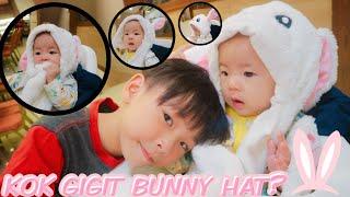 TOPI TIKTOK Bayi Lucu pakai Bunny Hat LED | GIGI GATAL  GIGIT TOPI KELINCI