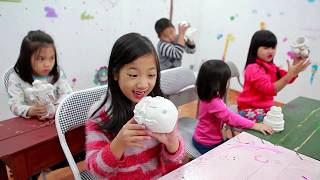 Kids Go To School | Children learn the statue and learn to draw colors