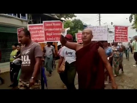 euronews (deutsch): Anti-Rohingya-Demo in Myanmar