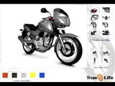 web3d motor bike configuration