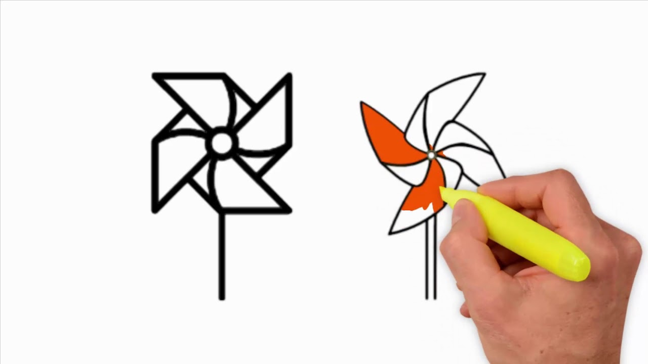 how to draw pinwheel coloring pages and drawing drawing extra