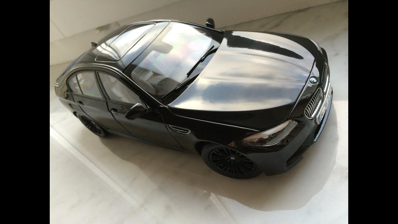 Bmw M5 F10 Black Paragon 1 18 Diecast Model Car Youtube