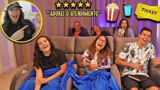 TRANSFORMEI A MANSÃO EM UM CINEMA PROFISSIONAL! - JULIANA BALTAR