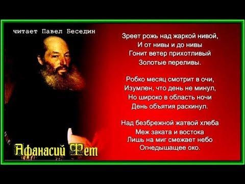Афанасий Фет  Зреет рожь над жаркой нивой читает Павел Беседин