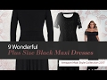 9 Wonderful Plus Size Black Maxi Dresses Amazon Maxi Style Collection 2017