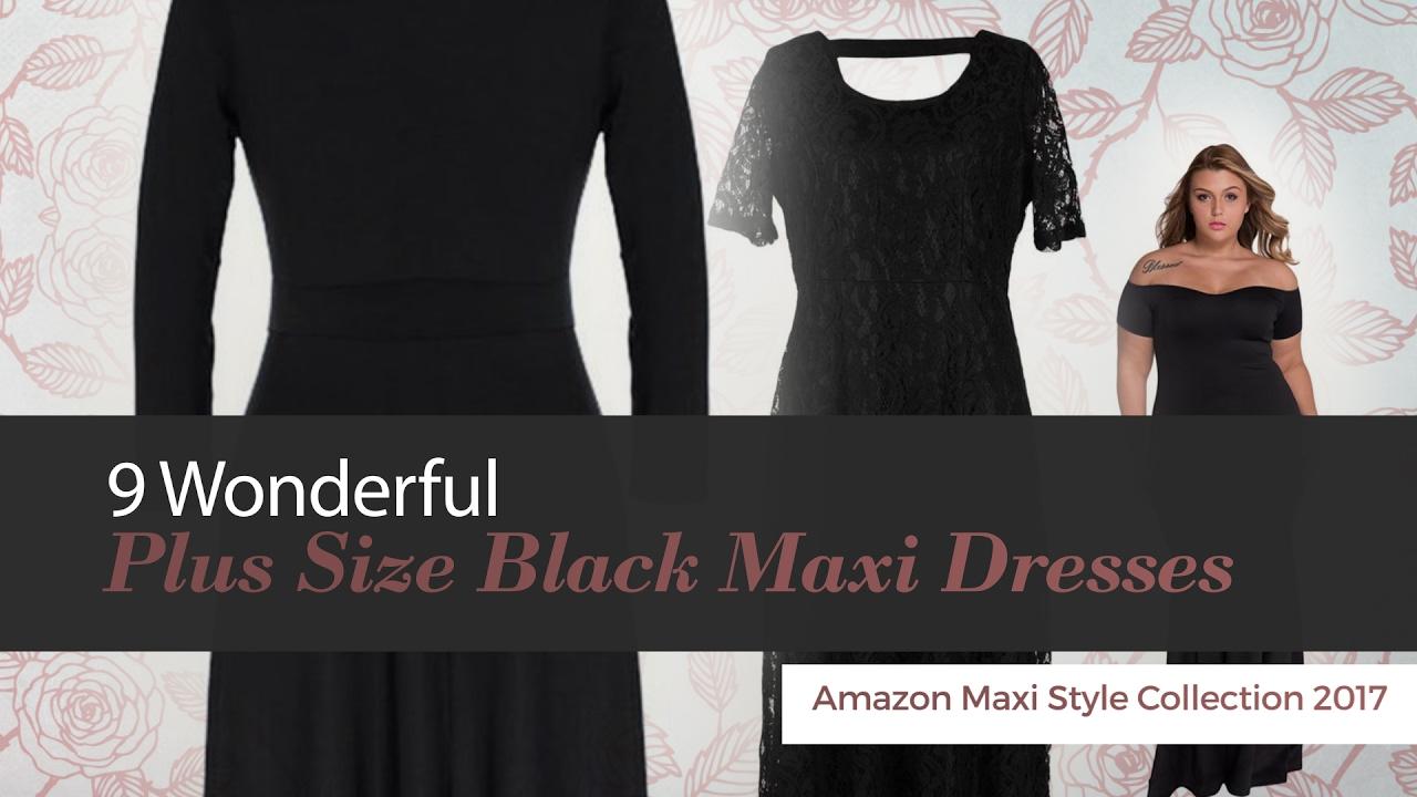 9 Wonderful Plus Size Black Maxi Dresses Amazon Maxi Style