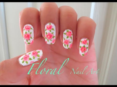 Spring Floral Nail Tutorial Youtube