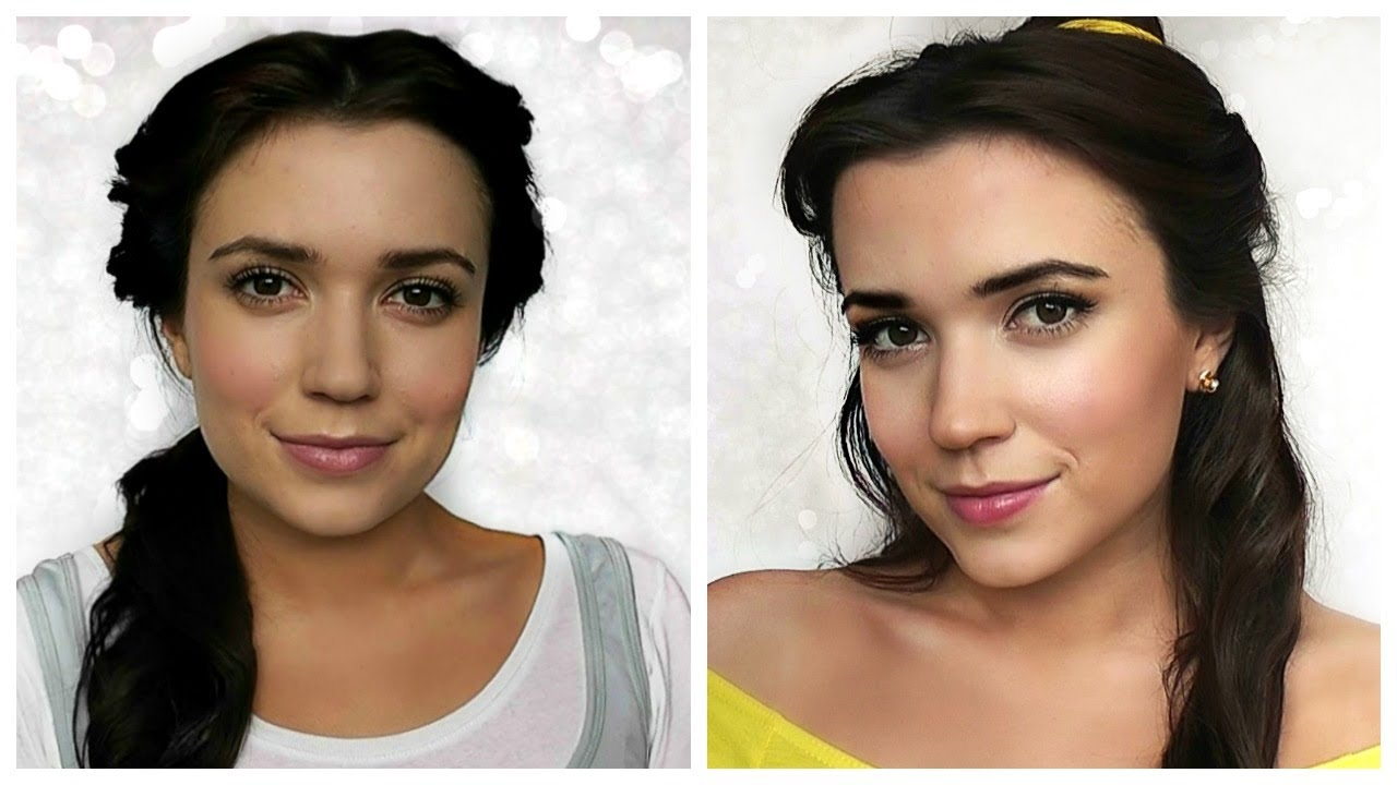 Belle Beauty And The Beast Hair Makeup Tutorial Youtube