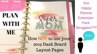 Plan With Me | How NOT to use your Super Mom Happy Planner Dashboard Pages