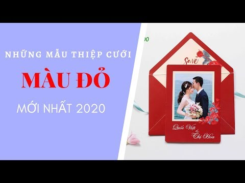 những mẫu thiệp cưới màu đỏ mới nhất 2020 - Thiệp Cưới Thu Hà