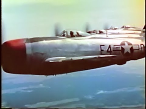 362nd Fighter Group P-47 Thunderbolts over Germany in Color -- New Edition