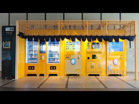 Vending Machine Cafe In Singapore City