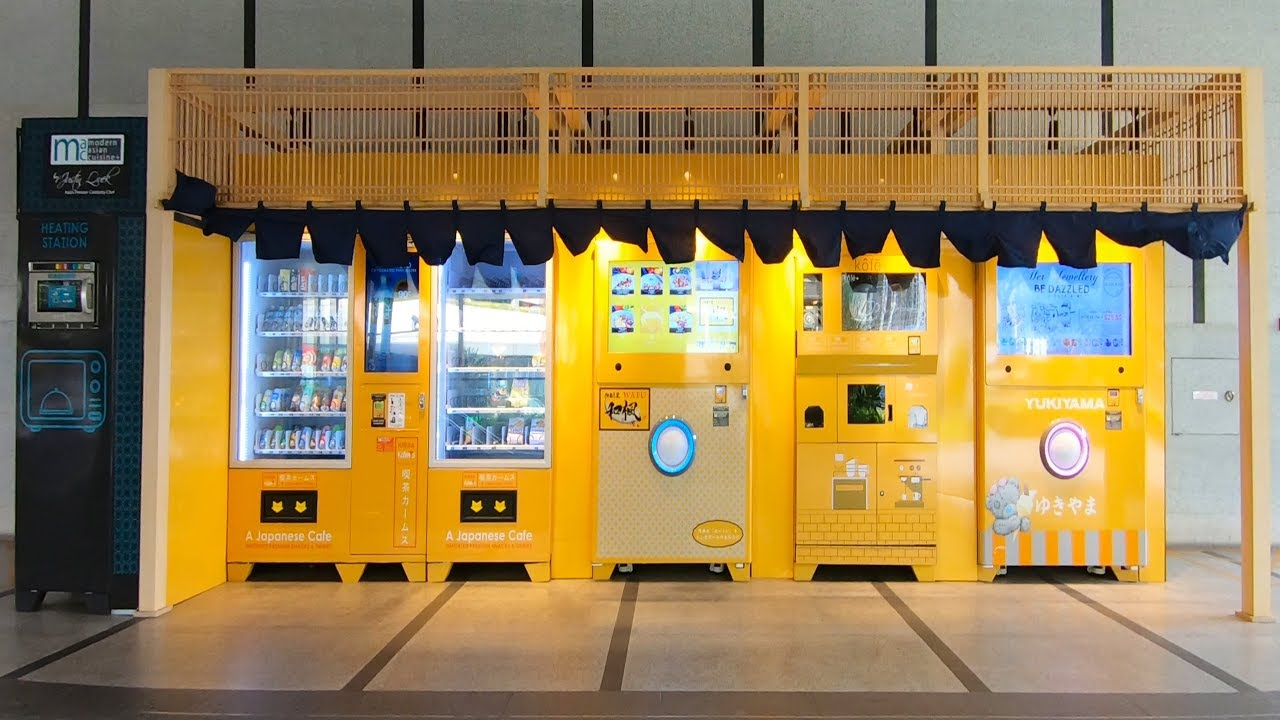 Vending Machine Cafe in Singapore City