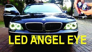 LED Cat/Angel eye installation on a BMW (e65) - Detailed!