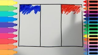 How to Draw France Flag - Drawing the French Flag - Art colors for kids | Tanimated Toys