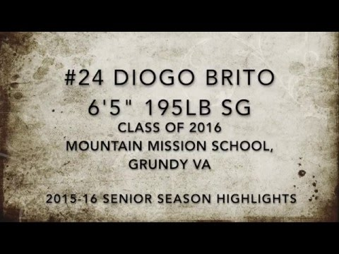 #24 Diogo Brito 6'5 Class of 2016 SG: Mountain Mission School basketball highlights