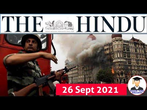 26 September 2021   The Hindu Newspaper analysis  Current Affairs 2021 #upsc #IAS #EditorialAnalysis