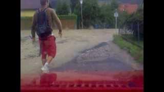 Fahrt durch Graz Ragnitz (Ragnitzstrasse) 25.07.2012 Unwetter & Hochwasser