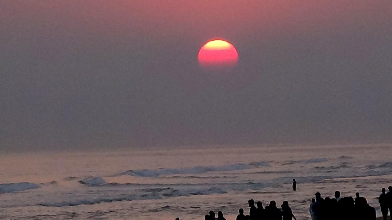 Sunset at Chandrabhaga Beach at Konark Puri India