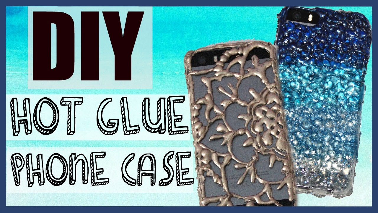 on sale f4dc9 fbd65 DIY Phone Case using ONLY HOT GLUE?! No clear phone case needed!