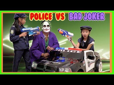 Pretend Play Police Catches JOKER