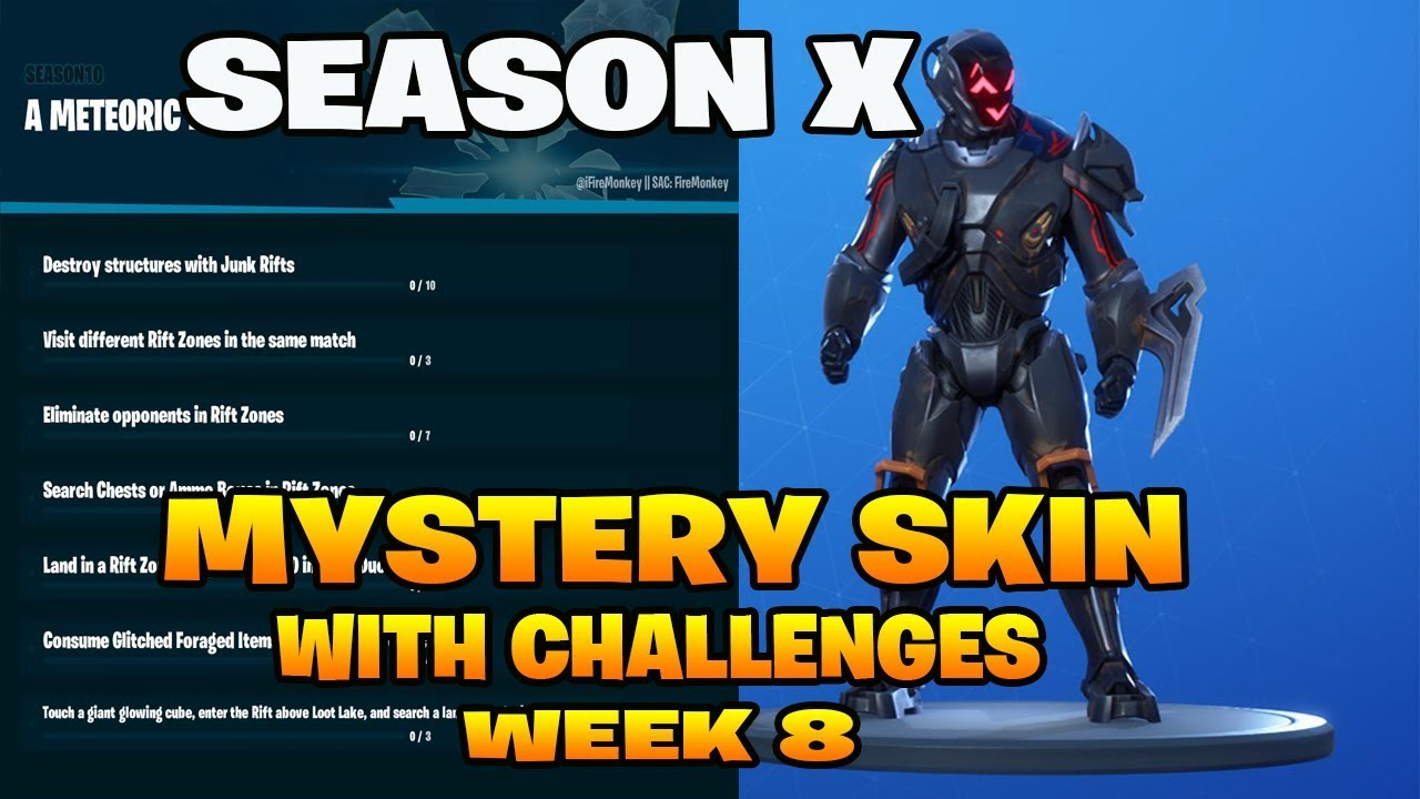 Fortnite Season X Mystery Skin Leaked With Challenges A Meteoric Rise