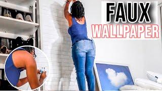 Diy Faux Wallpaper Install   Renter Friendly   Textured Brick Faux Wallpaper