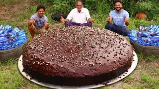 BIGGEST OREO CHOCOLATE CAKE RECIPE  PREPARED BY OUR GRANDPA | Oreo Biscuit cake Recipe